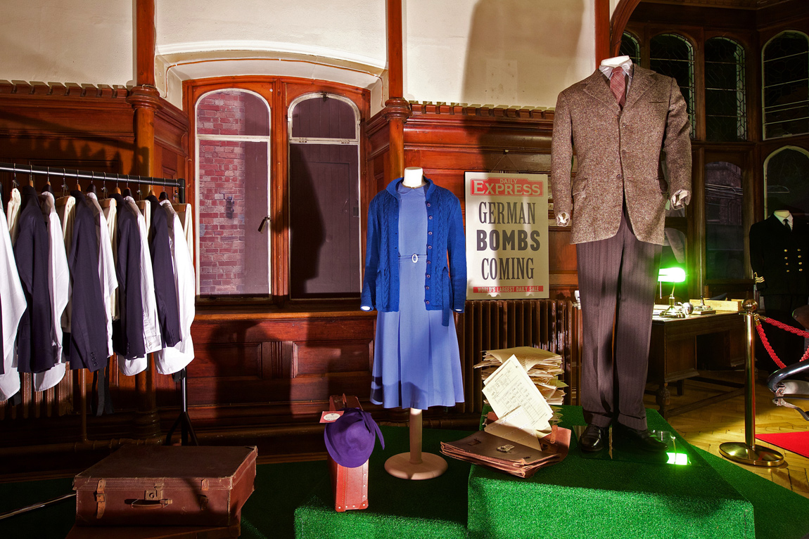 Keira Knightley and Benedict Cumberbatch costumes at Bletchley Park
