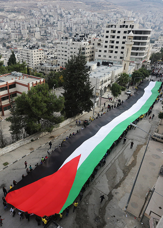biggest palestinian flag