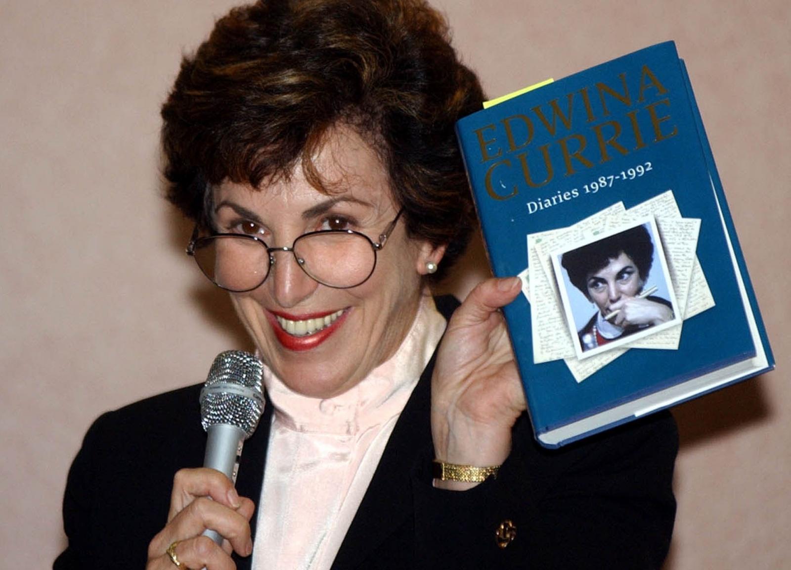 Edwina Currie reveals affair in her book in 2002