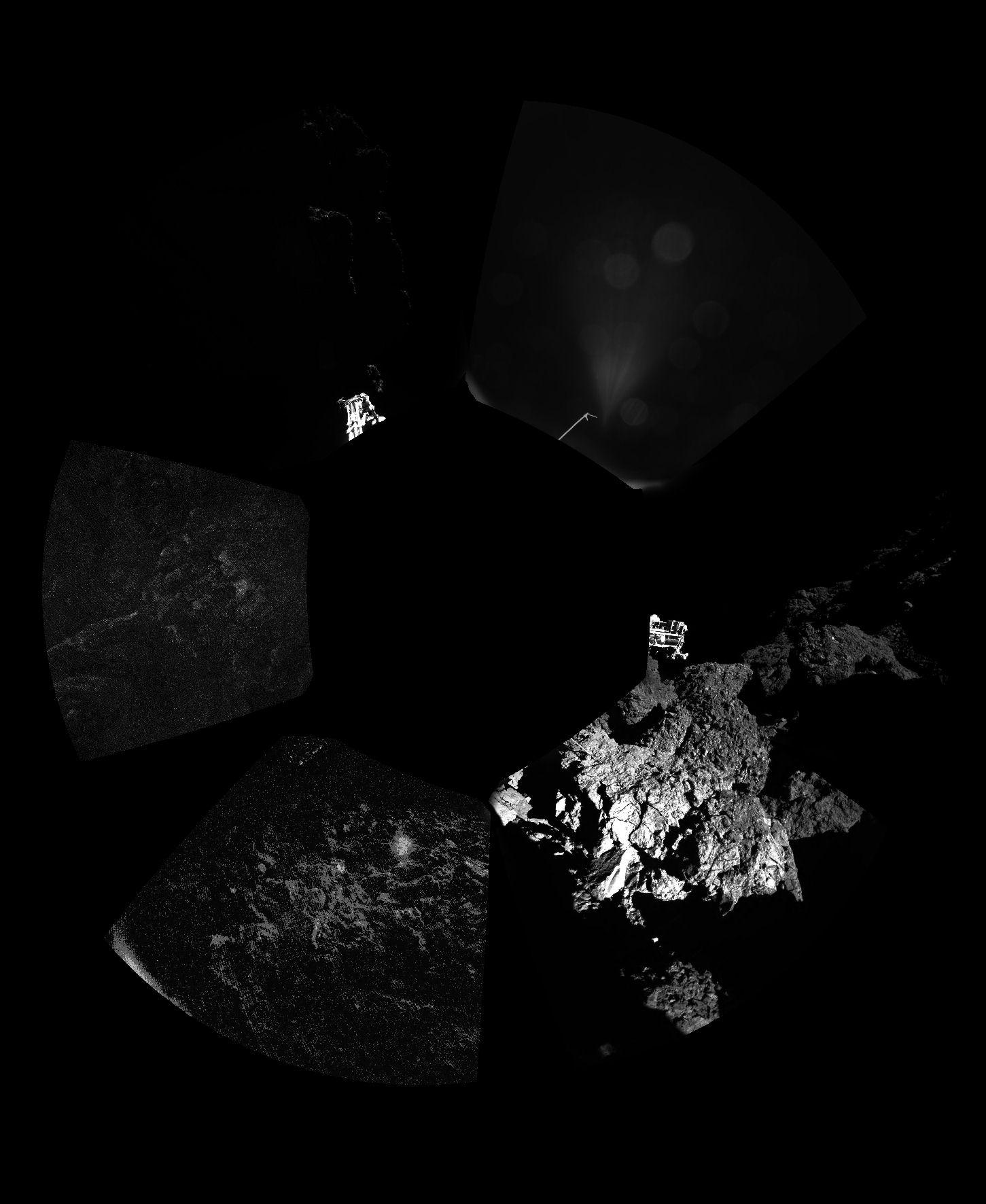 esa rosetta philae landing - HD1451×1771