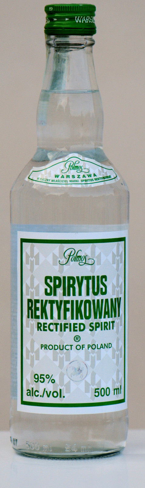 Polmos Spirytus Rektyfikowany - Polish 95 per cent proof spirit