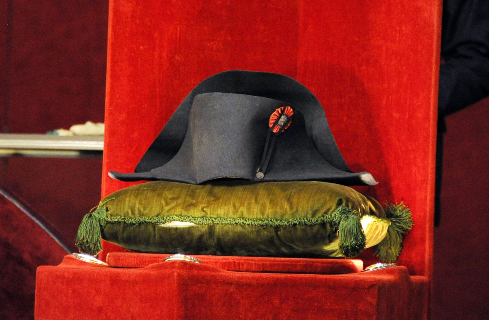 Napoleon's hat, which fetched £1.4 milion at an auction today
