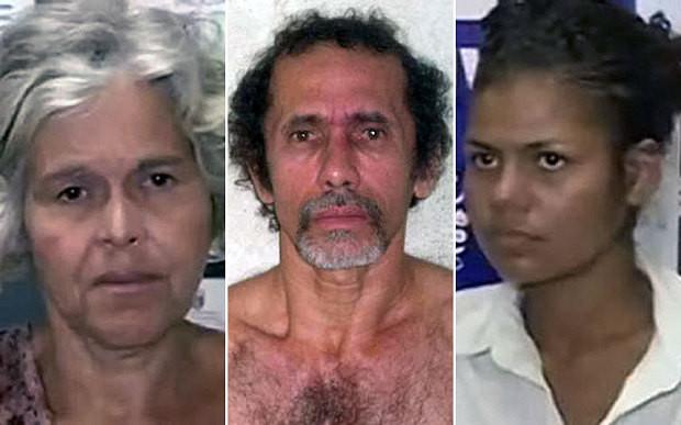 Cristina Pires, wife of cannibal Jorge Beltrao Negromonte da Silveira, who was sentenced and his mistress, Bruna Cristina Oliveira da Silva (Handout)