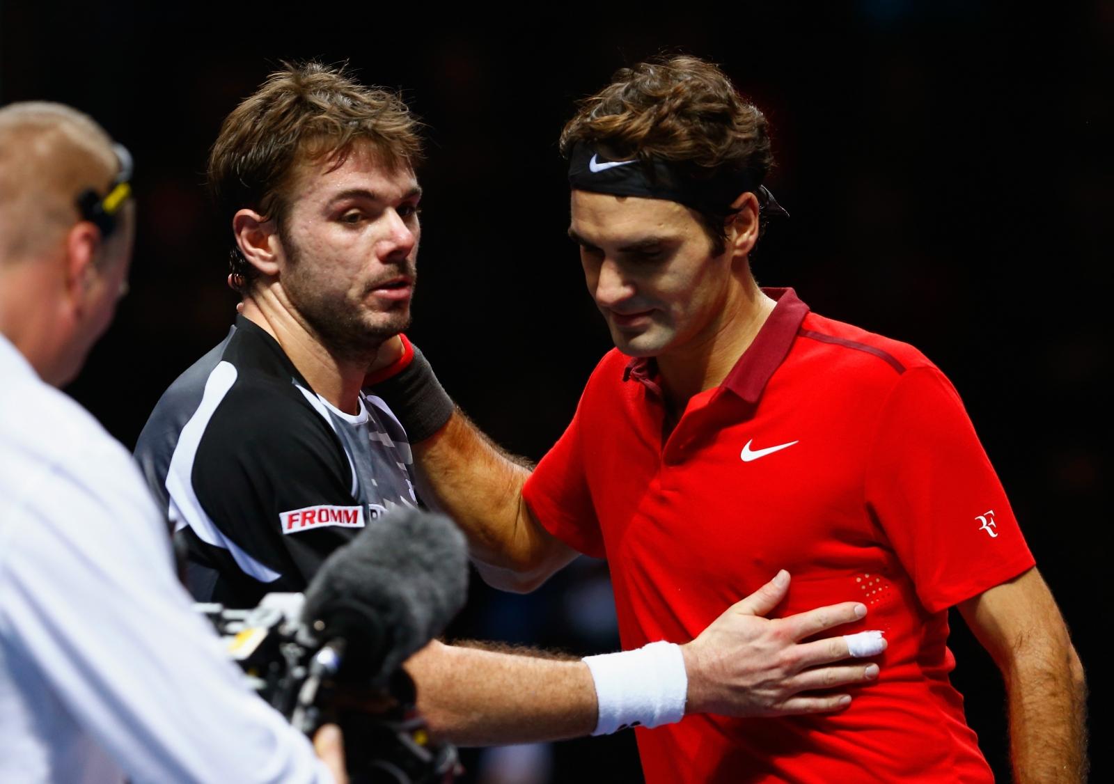 Roger Federer and Stanislas Wawrinka