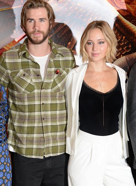 Liam Hemsworth and Jennifer Lawrence
