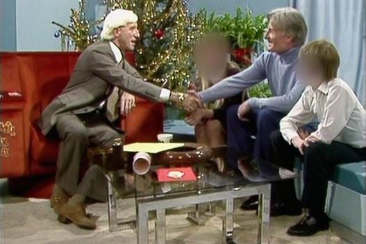 Jimmy Savile greets Paedophile Information Exchange member Keith Harding on Jm'll Fix It