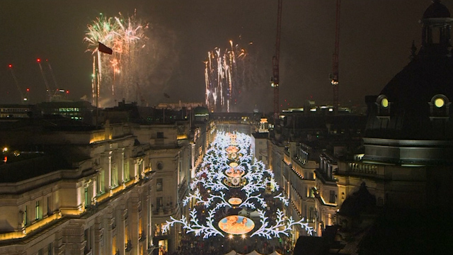 London's Regent Street Lights Up for Annual Christmas Display