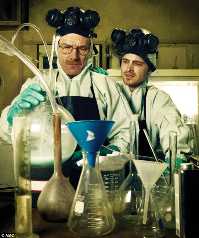Walter White and Jesse Pinkman make crystal meth in the TV show Breaking Bad. But the days may be numbered for real-life small time producers (AMC).