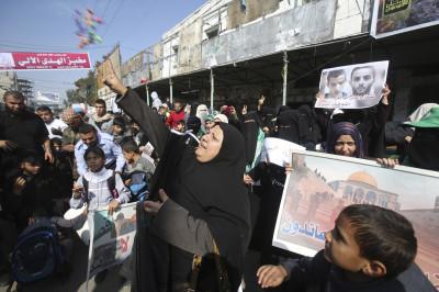 Palestinians Celebrate Synagogue attack Jerusalem Gaza