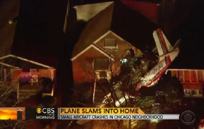 Plane hits Chicago home
