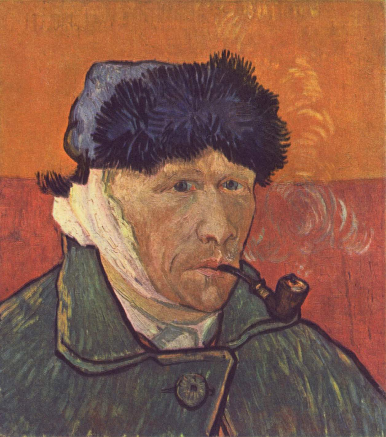 Self-portrait of Vincent Van Gogh, after he had cut off his right ear