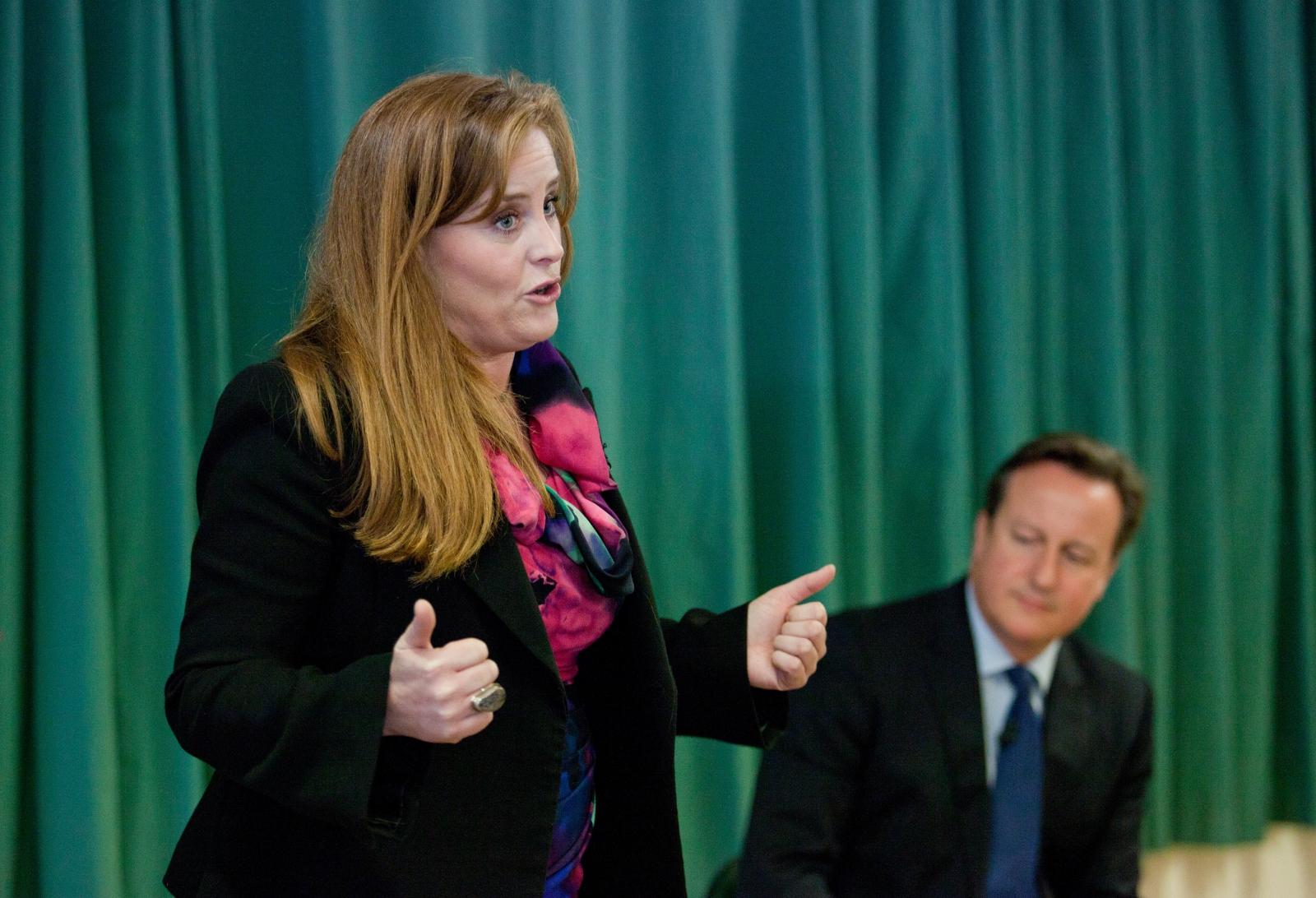 Kelly Tolhurst and David Cameron