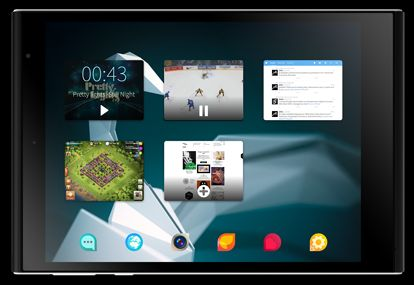 Jolla Sailfish Tablet UI in landscape