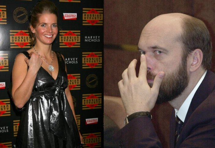 Alexandra Tolstoy and Russian oligarch Sergei Pugachev