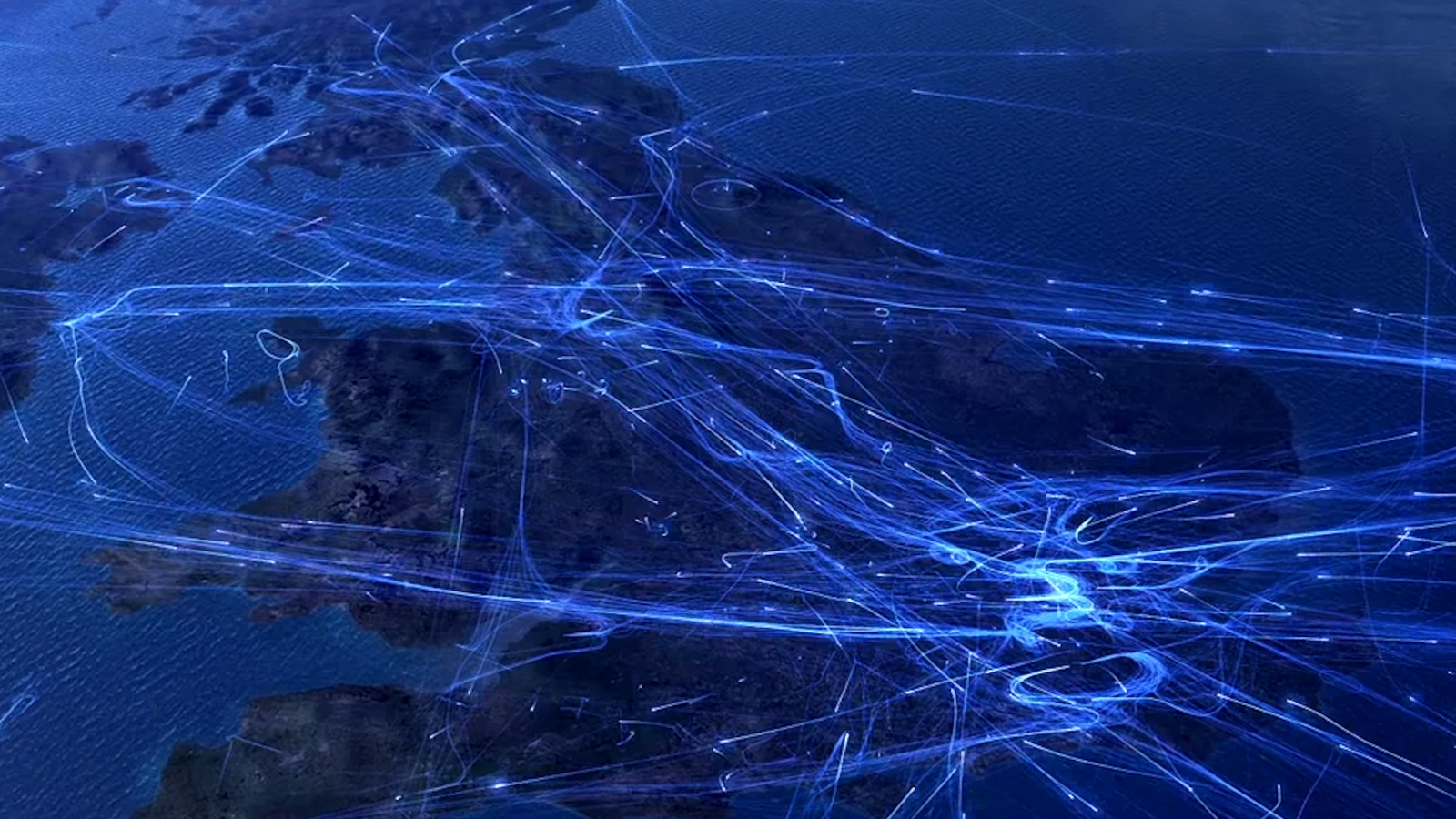 Air Traffic Video Shows All Flights Made Across UK in One Day