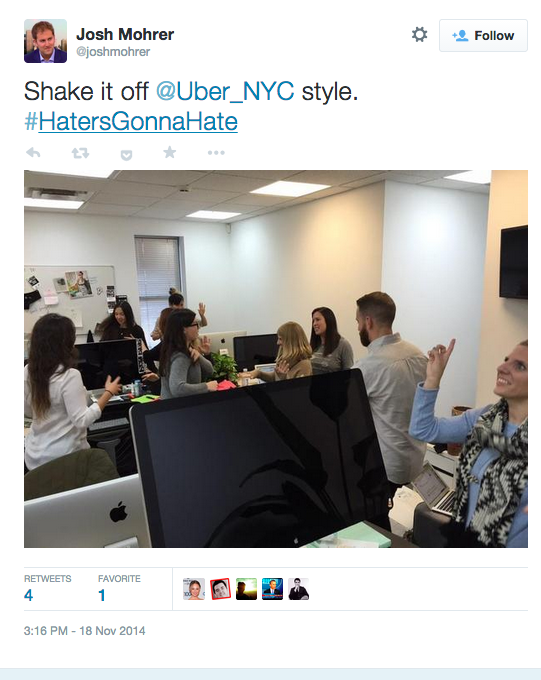 Uber New York GM Dismisses Controversy in Tweet