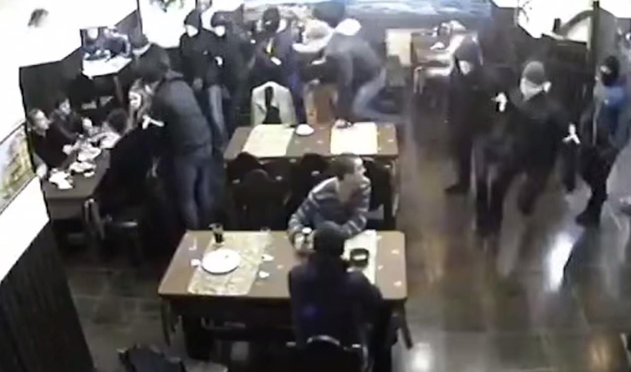 masked tugs storm club Russia video Vichuga Streletz