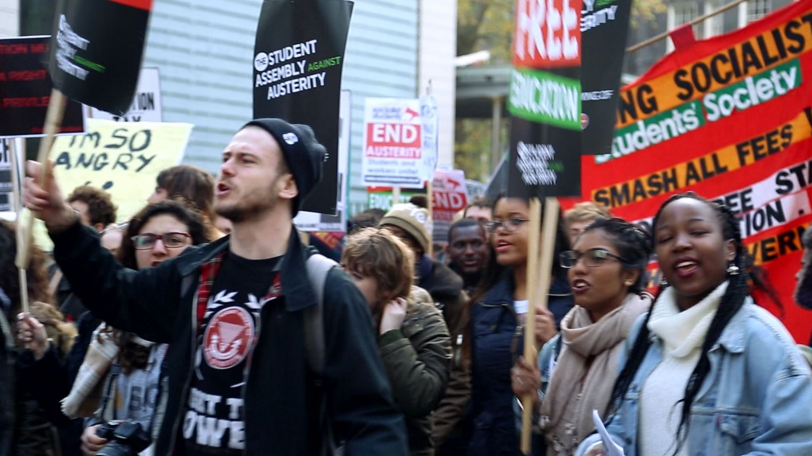 Student Tuition Fee Protesters March on UK Parliament