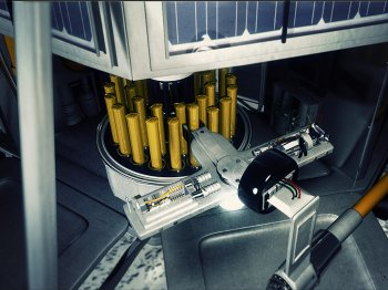 Capsules of digital memories will be carefully buried in the holes drilled by the spacecraft during its sample-gathering