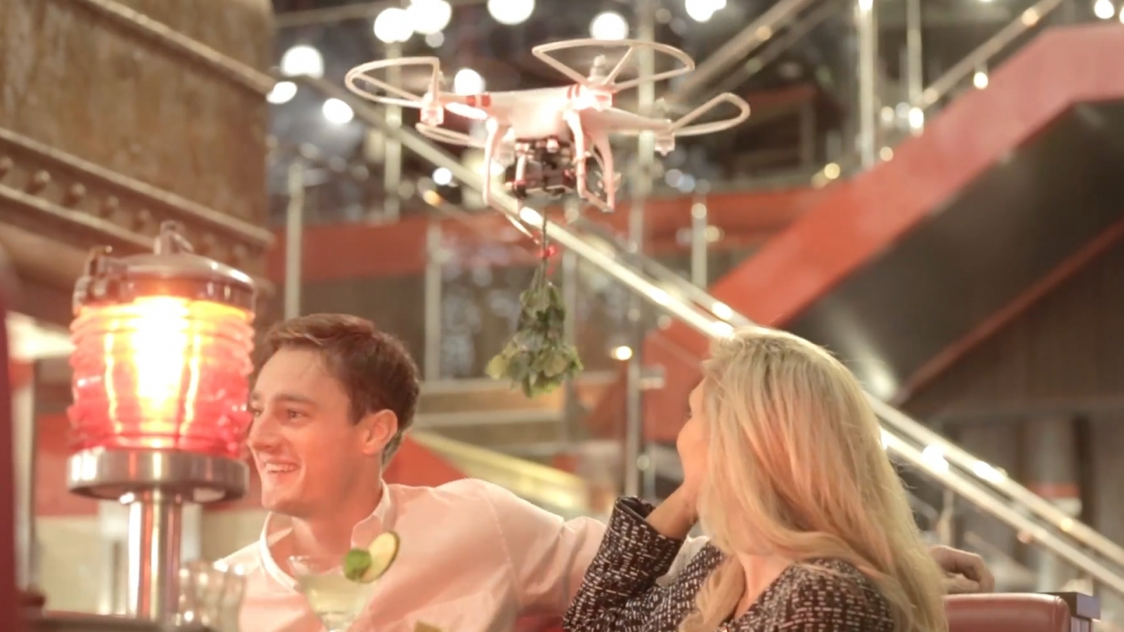 Restaurant Launches Mistletoe Drones for Christmas