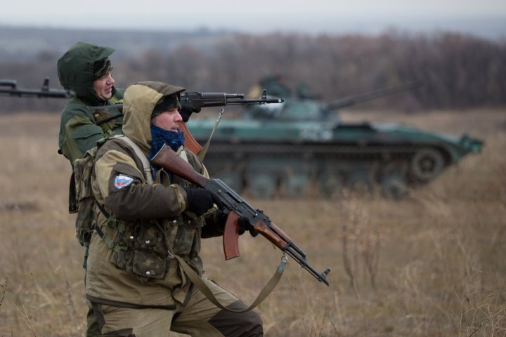 OSCE Convoy attacked eastern Ukranie Donetsk