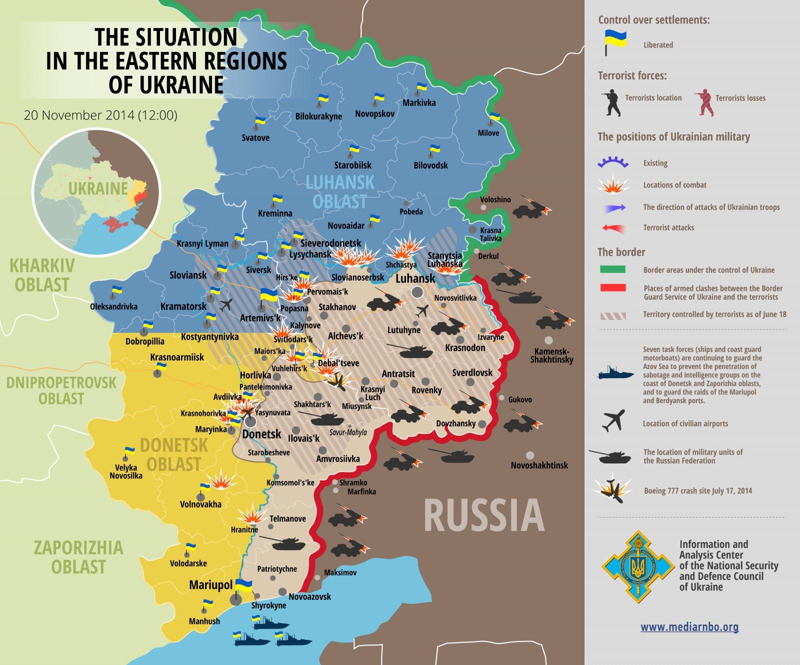 Eastern Ukraine Crisis Map
