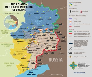Eastern Ukraine Crisis Map