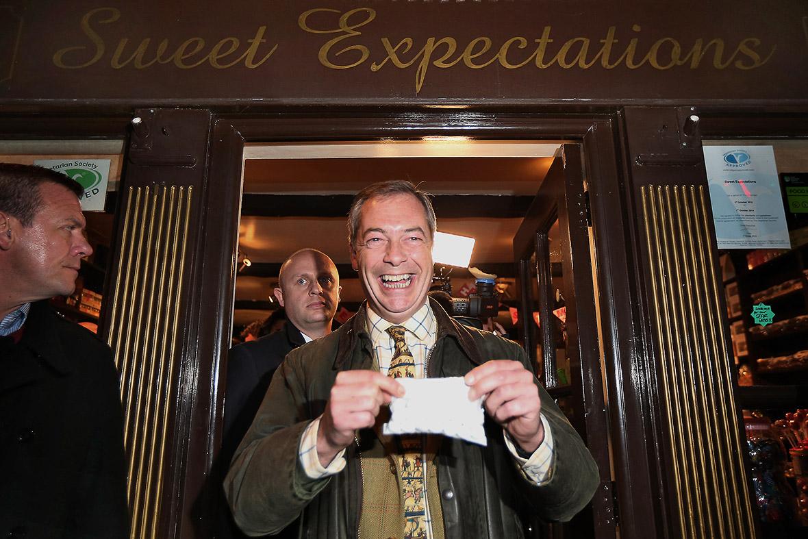 Nigel Farage Sweet Expectations