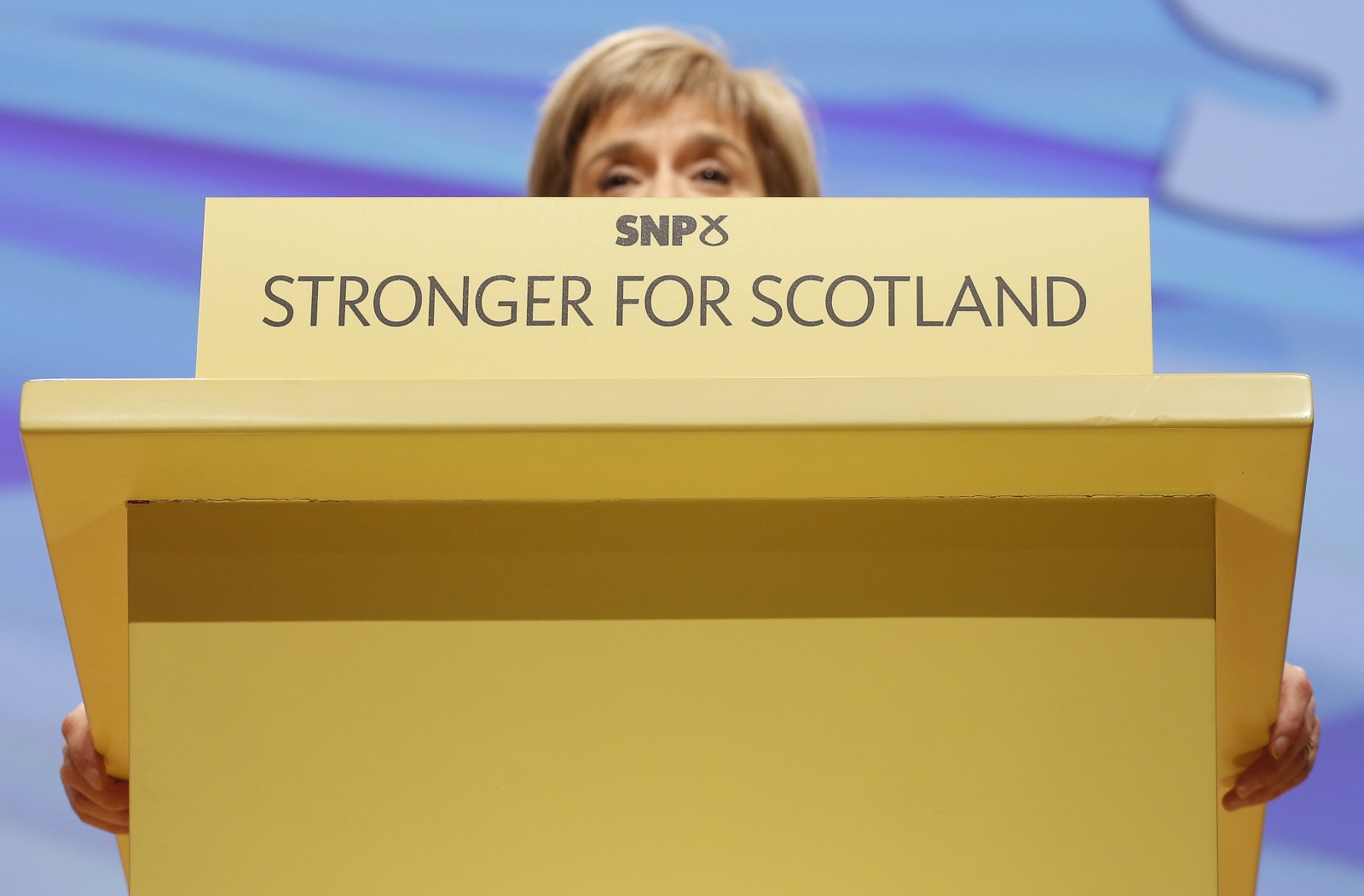Nicola Sturgeon speaks after she was formally announced as the new Scottish National Party (SNP) leader at the party conference in Perth, Scotland November 14, 2014