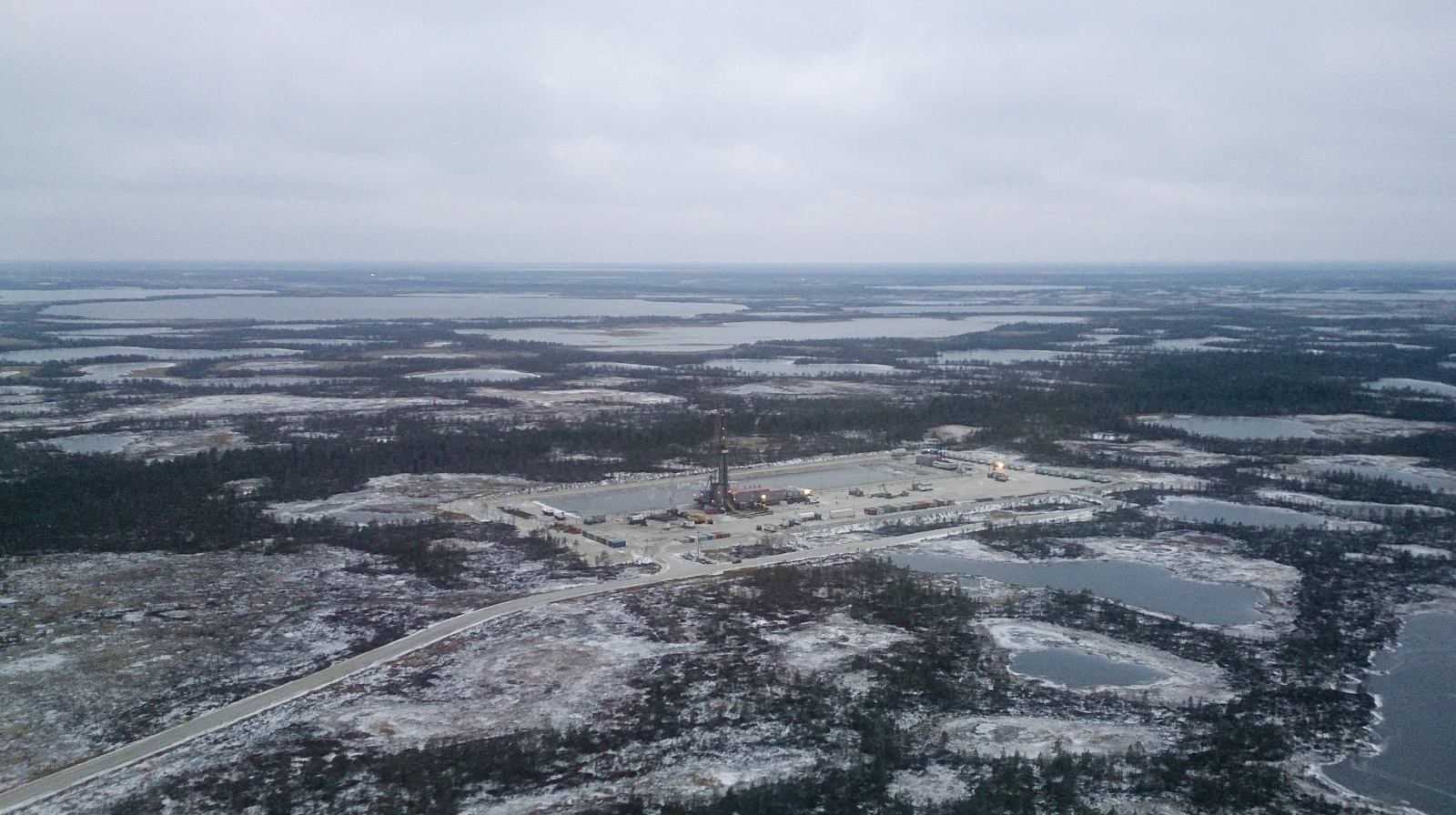 Siberia, Russia, oilfield