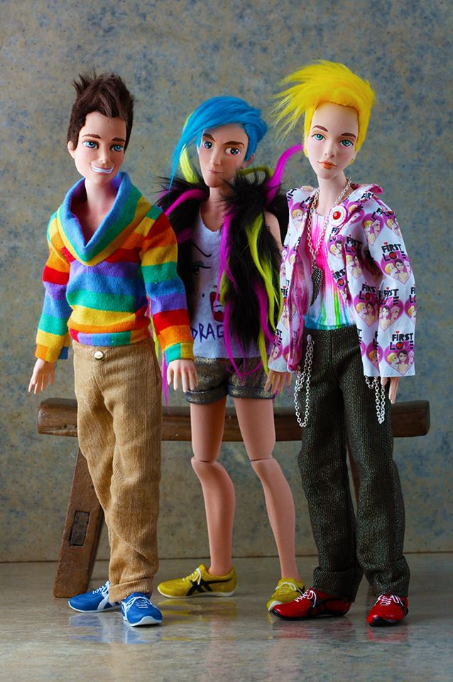 Each doll comes with a different expression, signature outfit and even artfully-styled 3D-printed hair