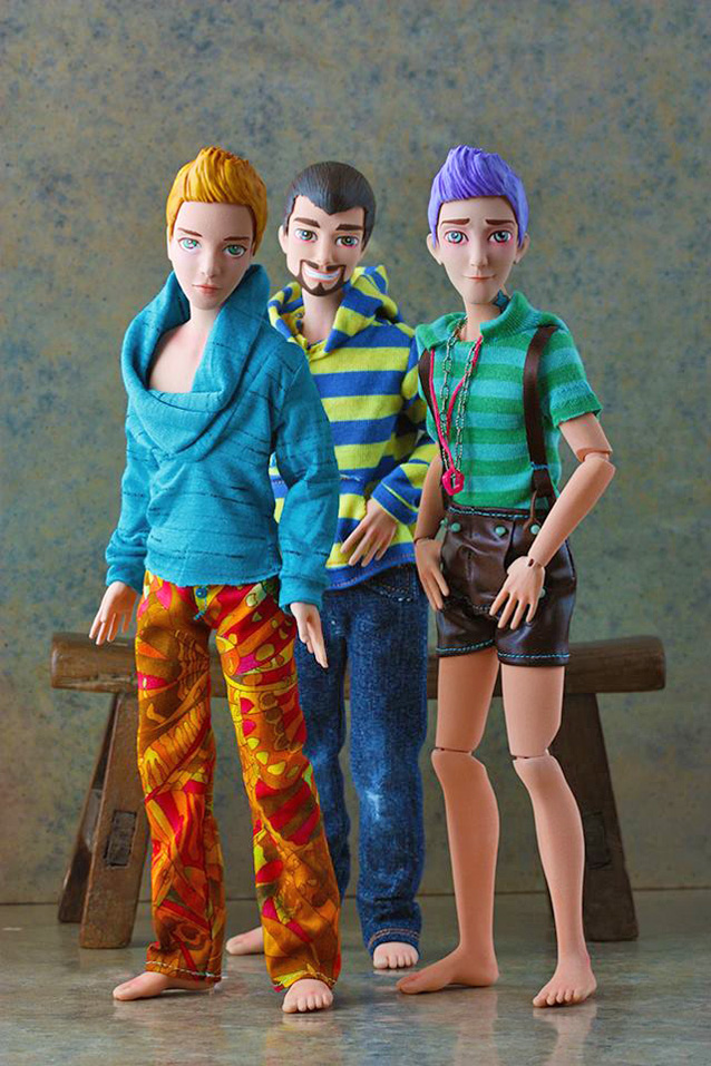 Each doll takes 6-8 weeks to be 3D-printed, put together and then hand-painted and styled