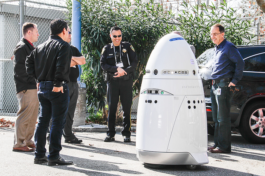 Knightscope k5 robot security guard