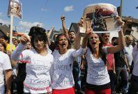 Yazidid women protest sex slavery isis