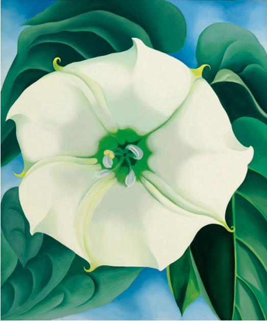 Georgia O'Keeffe white flower painting record auction price