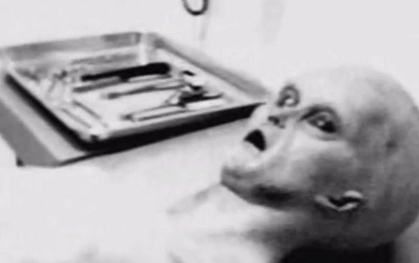 UFO researcher Tom Carey said his images were taken during an alien autopsy that was performed in the top-secret area 51
