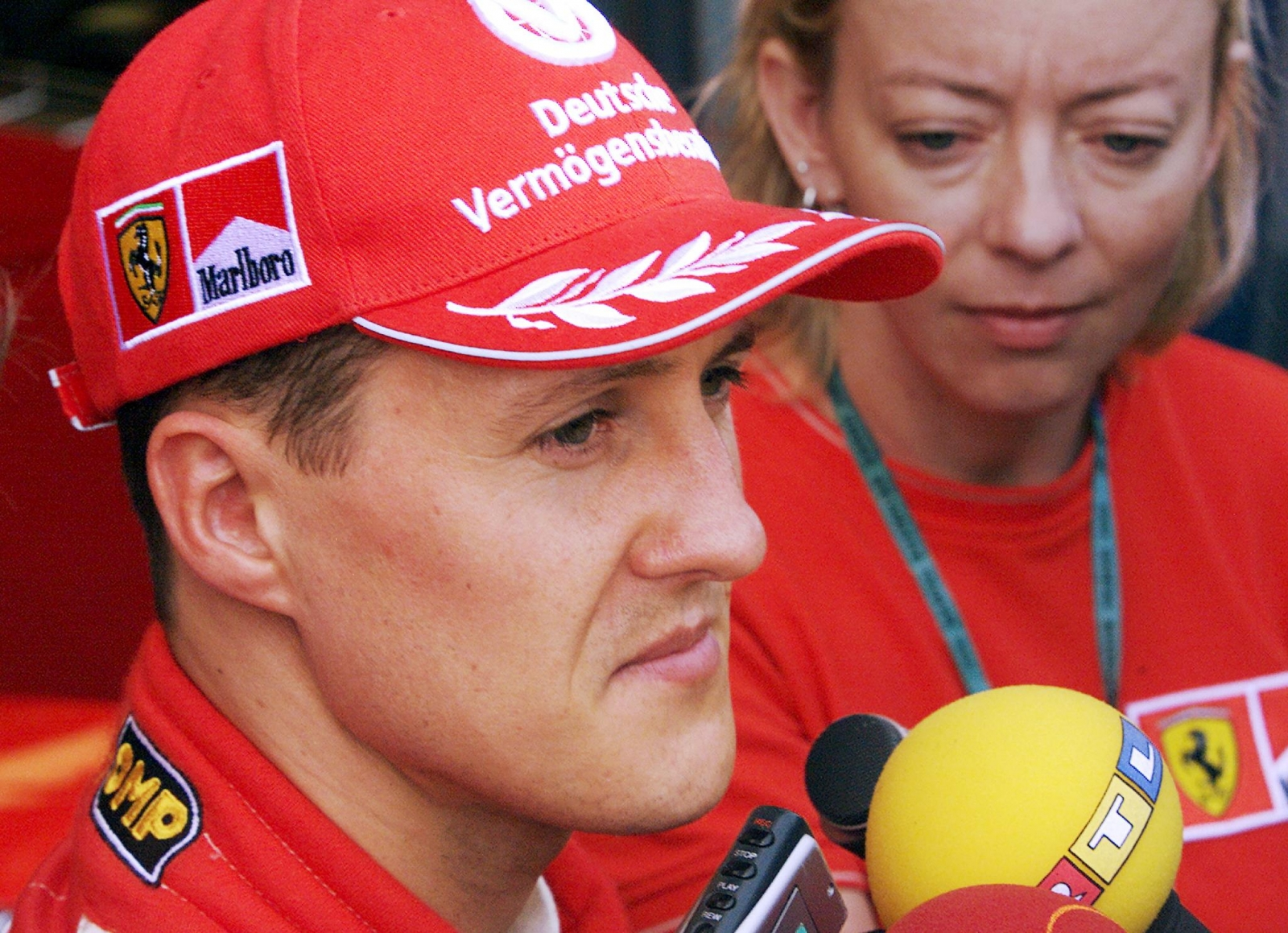 Sabine Kehm (right) said there is no timeline on Michael Schumacher's recovery