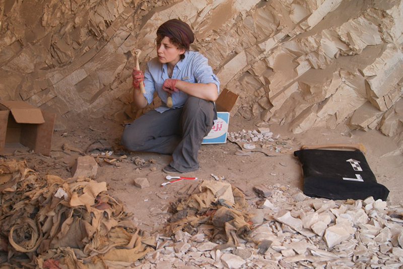 Stanford archaeologist Anne Austin studies the bones of Deir el-Medina's inhabitants to see what their health quality was like