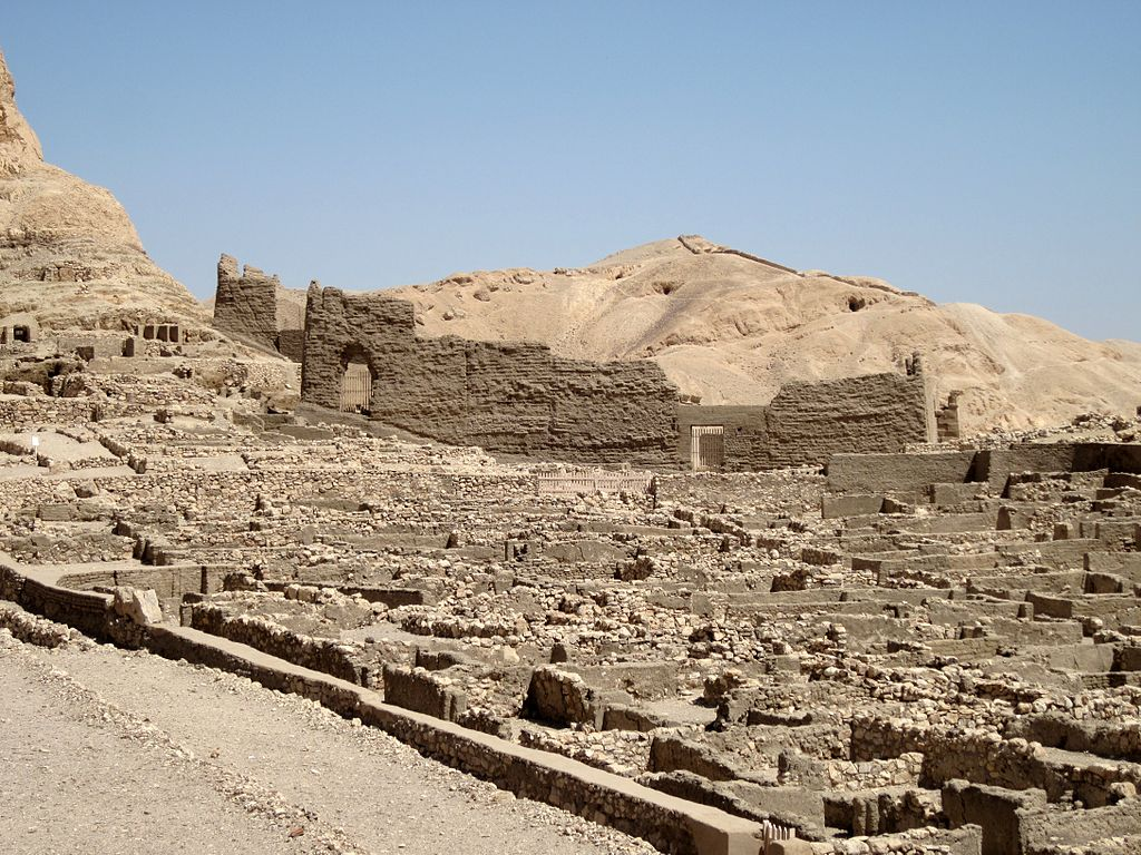 Deir el-Medina, the craftsmen's village located on the west bank of the Nile
