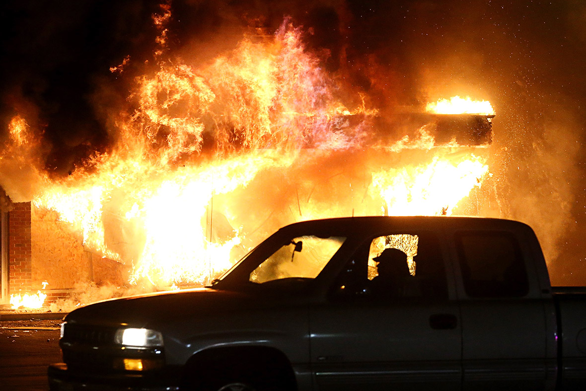 ferguson in flames