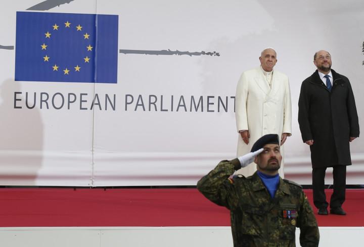 Pope Francis EU Parliament Strasbourg