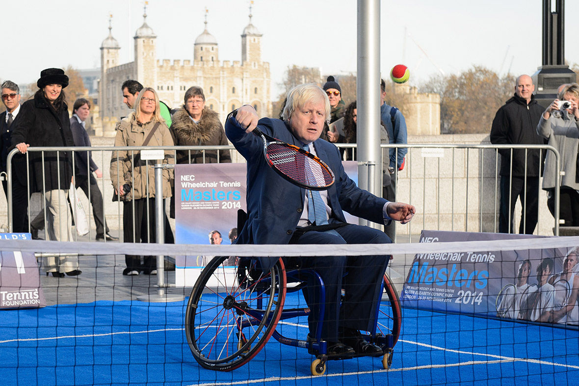 boris johnson wheelchair