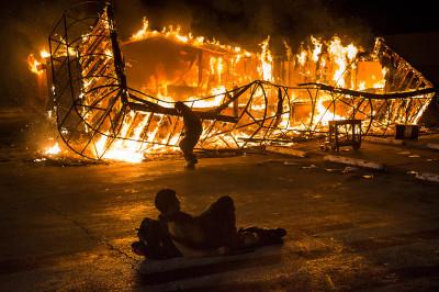 ferguson in flames
