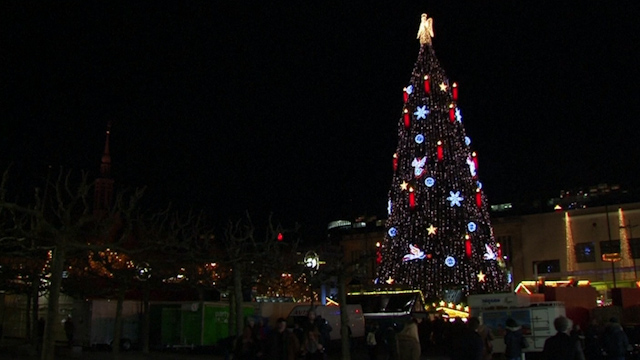 the worlds largest christmas tree adorns the dortmund christmas market - Worlds Largest Christmas Tree