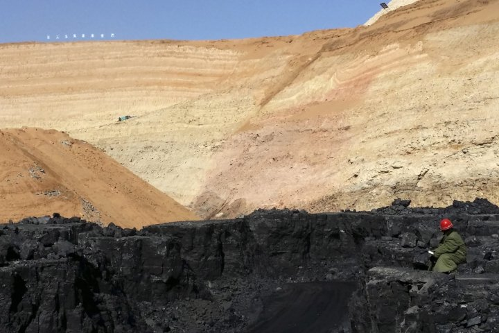 China coal mine fire
