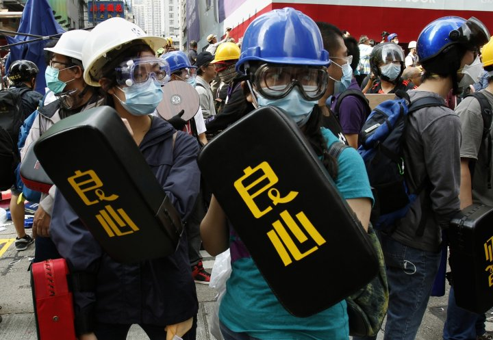 Hong Kong Protest Camp Cleared Police Democracy