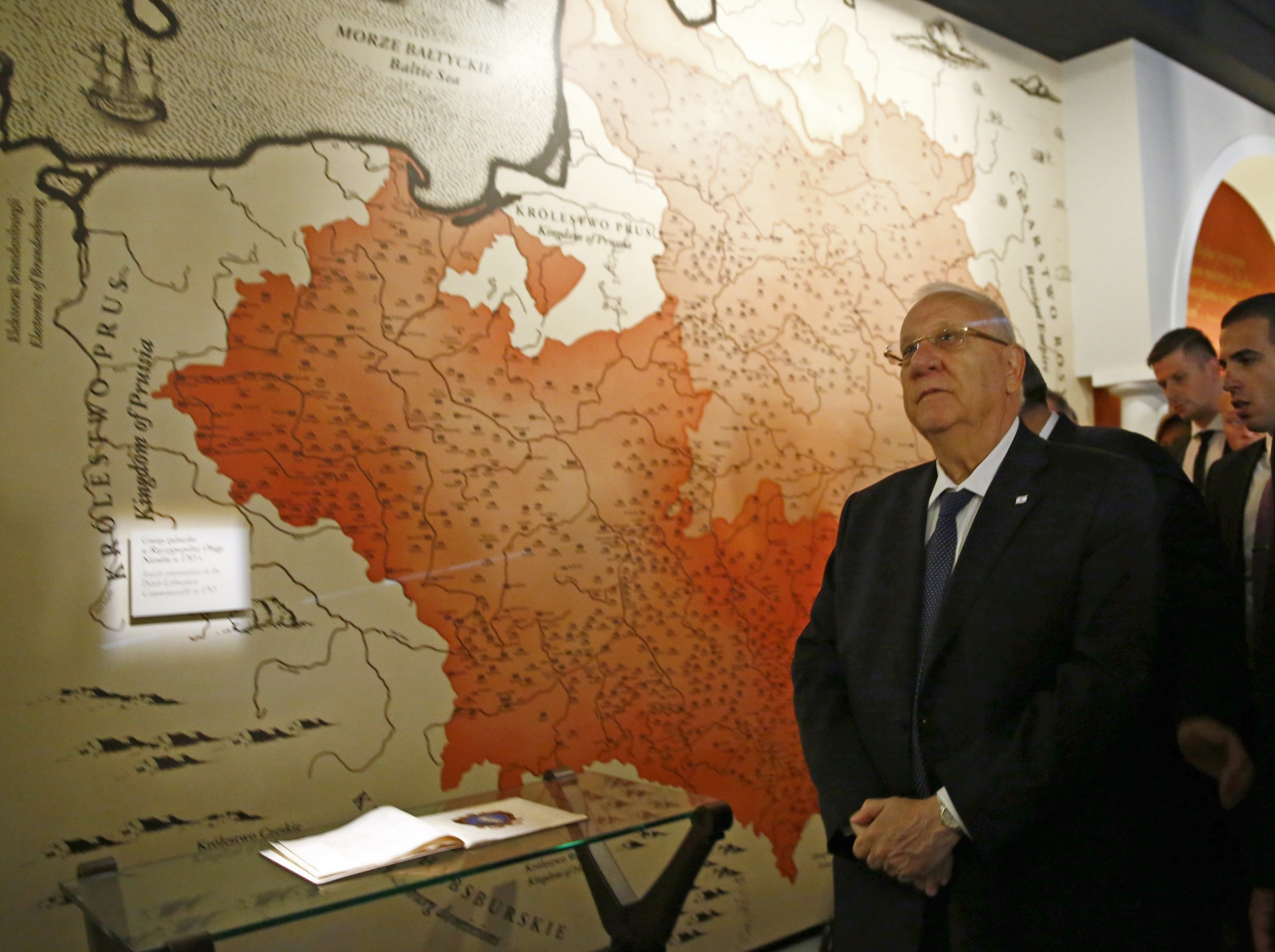 Israel's President Reuven Rivlin visits newly built Museum of the History of Polish Jews in Warsaw