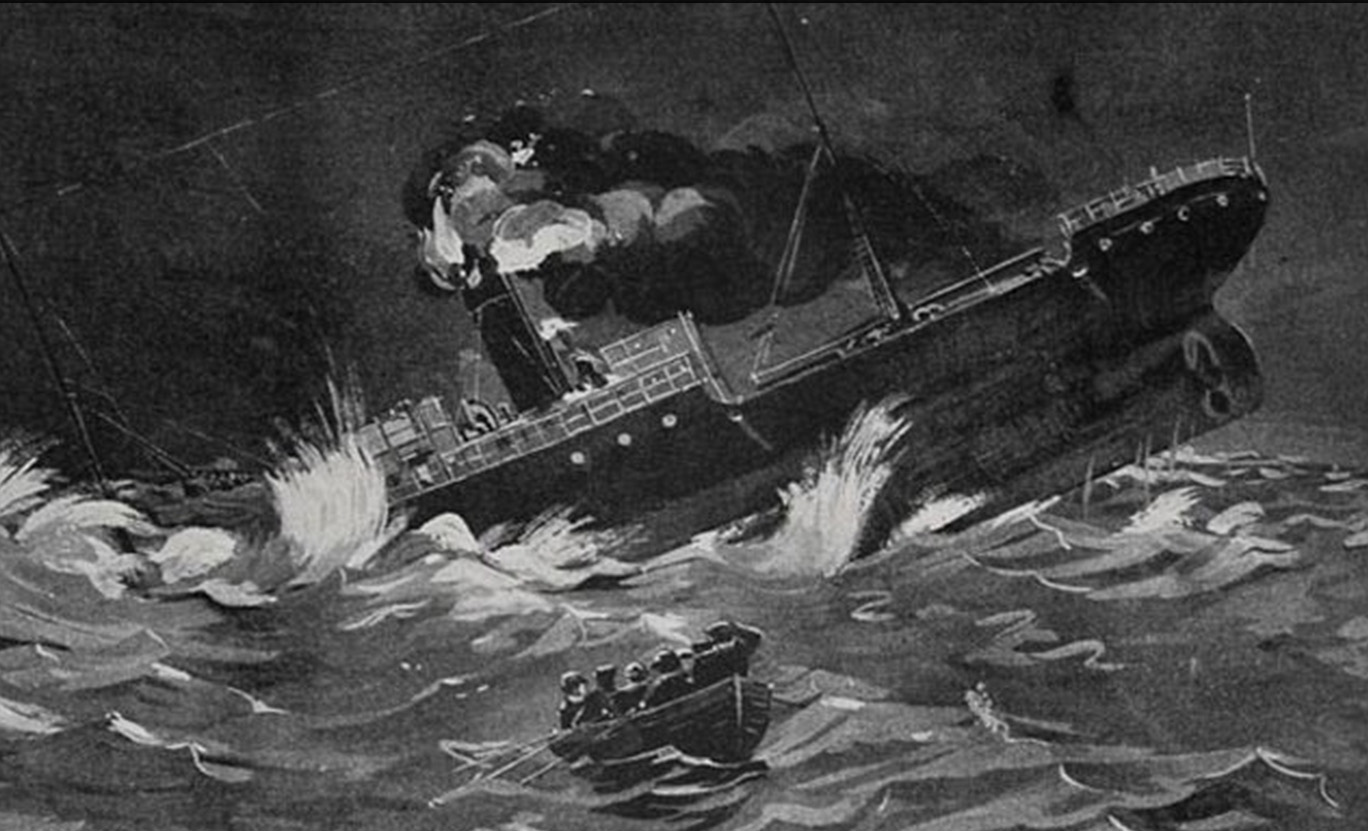 An illustration of the doomed SS Ventnor sinking