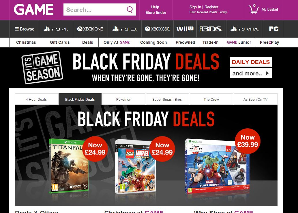 black friday game begins deals on xbox one ps4 pc and wii u titles. Black Bedroom Furniture Sets. Home Design Ideas