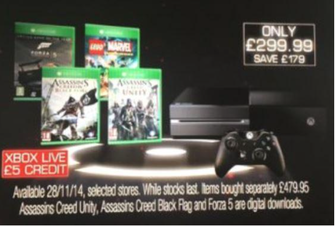 Xbox One Black Friday Price Bundle Confirmed
